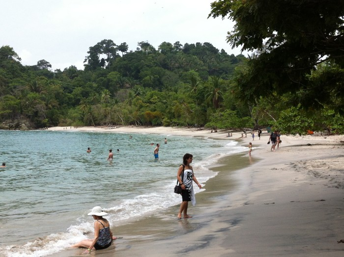 One of the stunning beaches at Manuel Antonio.