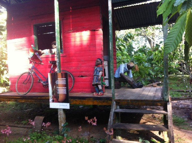 "The Museo de Cacao's ""Caribbean House"" recreates the kind of home chocolate workers here lived in decades ago."