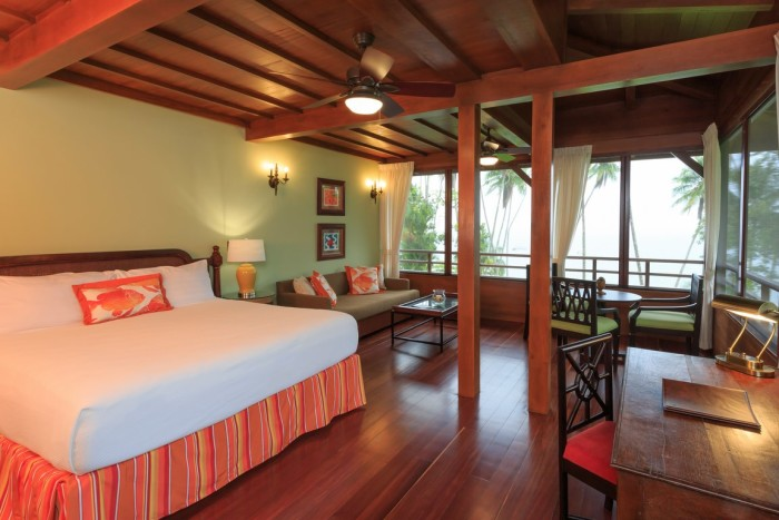 Playa Cativo Lodge's rooms offer rustic luxury.