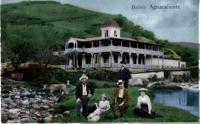 An old postcard shows the Bella Vista Hotel.