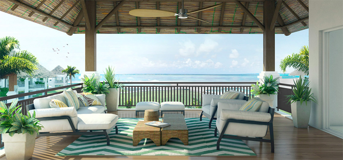 Artist's rendering of a deck at Pavones Point.