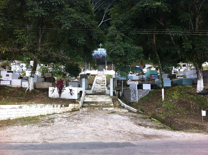 The Golfito cemetery.