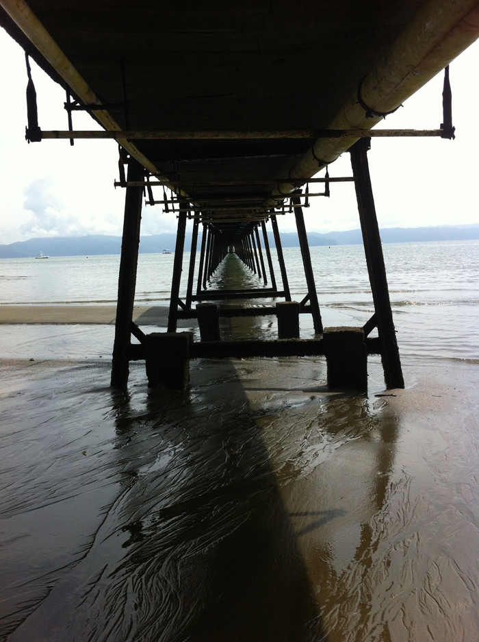 Under the Crocodile Bay pier.