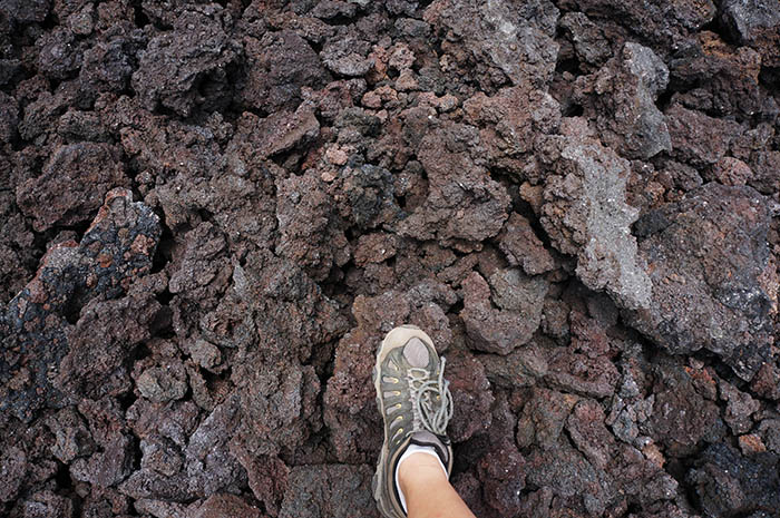Cooled lava from a 2010 eruption.