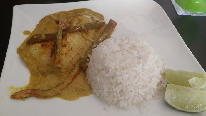 The Goa masala fish is made with flavorful spices directly sourced from India.