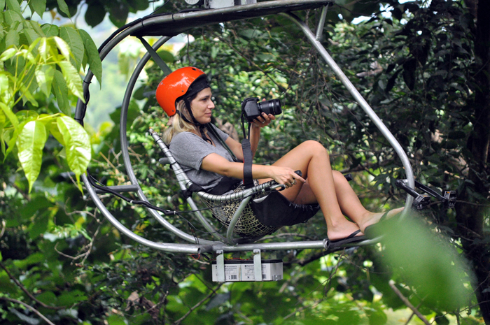 The Canopy Bike offers a more relaxed way to see the forest.
