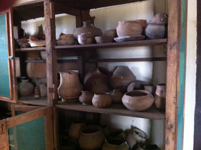 Pots in a back room at the Museo de Rivas.
