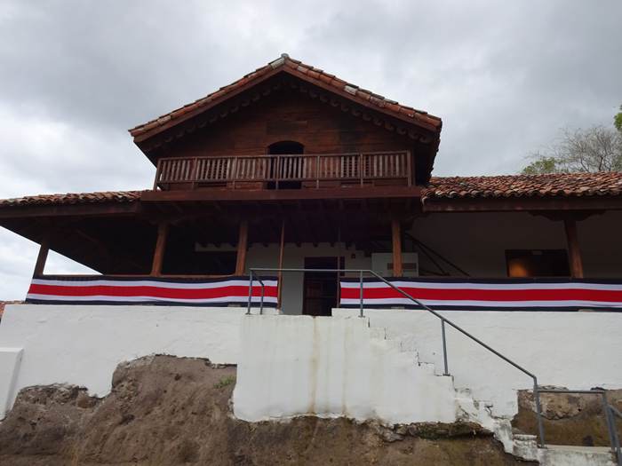 La Casona has big flags on display Sept. 12, three days before Costa Rica's Independence Day.