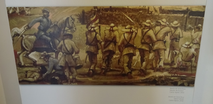 Painting depicting the Battle of Santa Rosa.