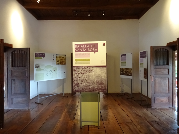 Exhibit room inside La Casona.