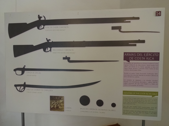 Weapons used in the battle: Enfield rifles, flintlock rifles, bayonets and cannonballs.
