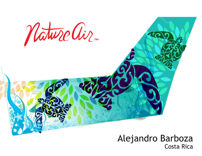 Alejandro Barboza's plane tail design