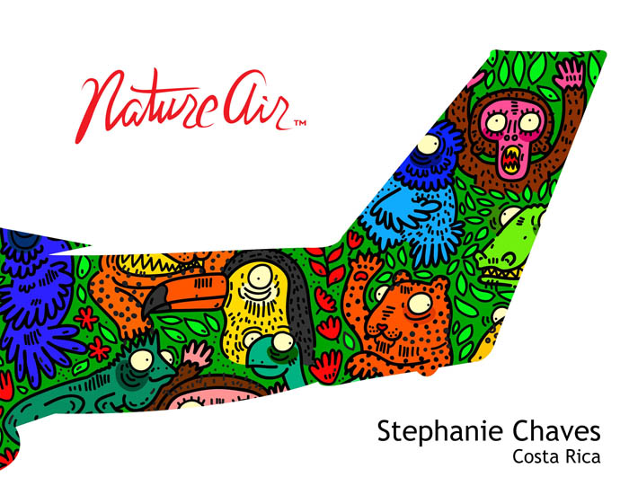 Stephanie Chaves' plane tail design