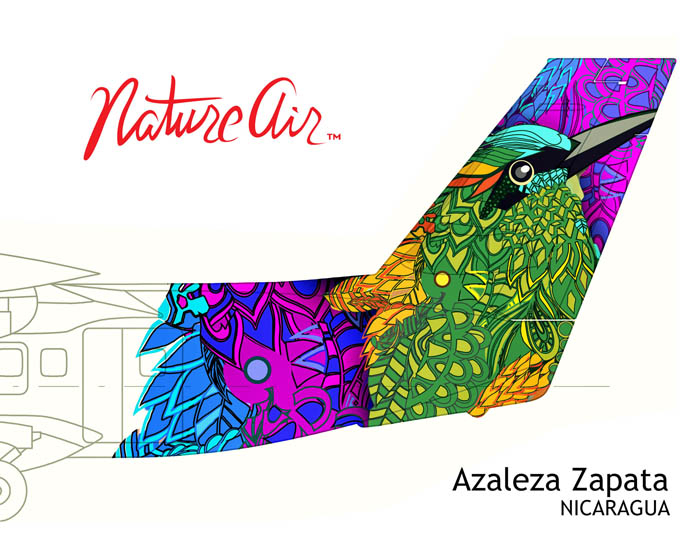 Azaleza Zapata's airplane tail design