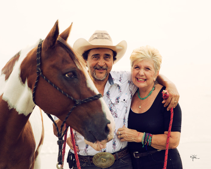 Esteban Peraza and Kay Dodge have been riding horses together through 23 years of marriage.