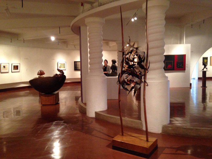 Paintings, sculpture and drawings by Costa Rican artists.