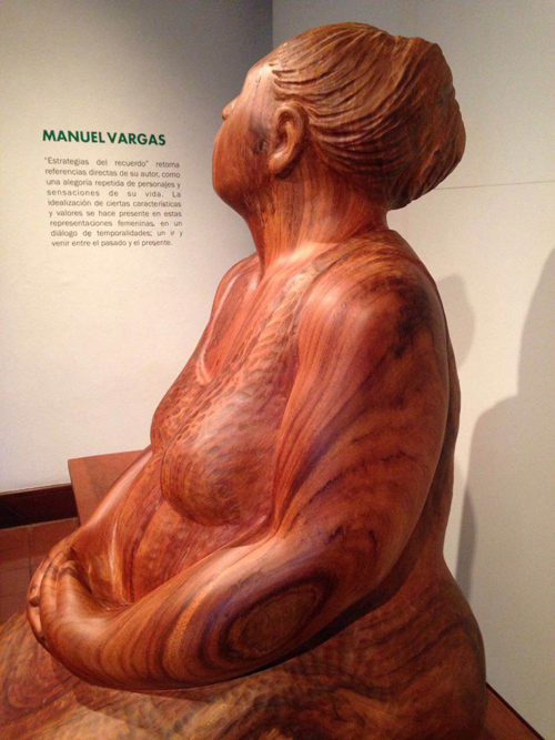 This Vargas creation gazes wistfully at the information panel about her creator.
