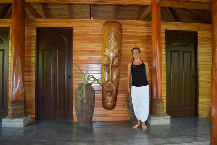 María del Mar Alfaro, general manager of the Bodhi Tree, outside the spa.