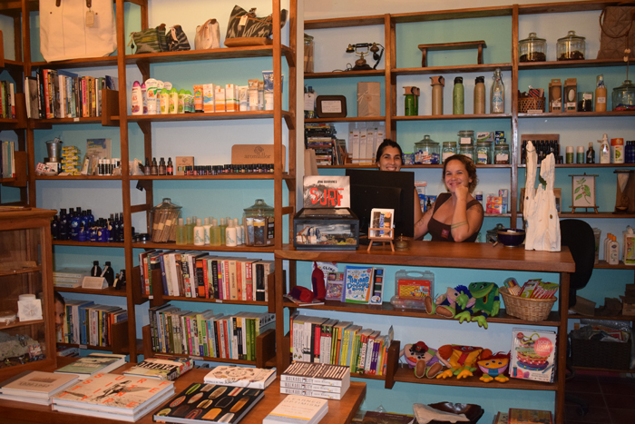 The Harmony Tiendita, with books and gifts galore.