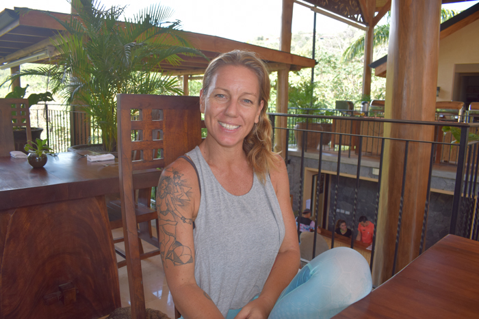 Yali McGregor, yoga teacher at the Bodhi Tree.