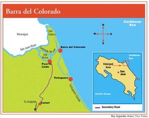 Barra del Colorado map
