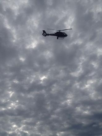 Police helicopter drug raid