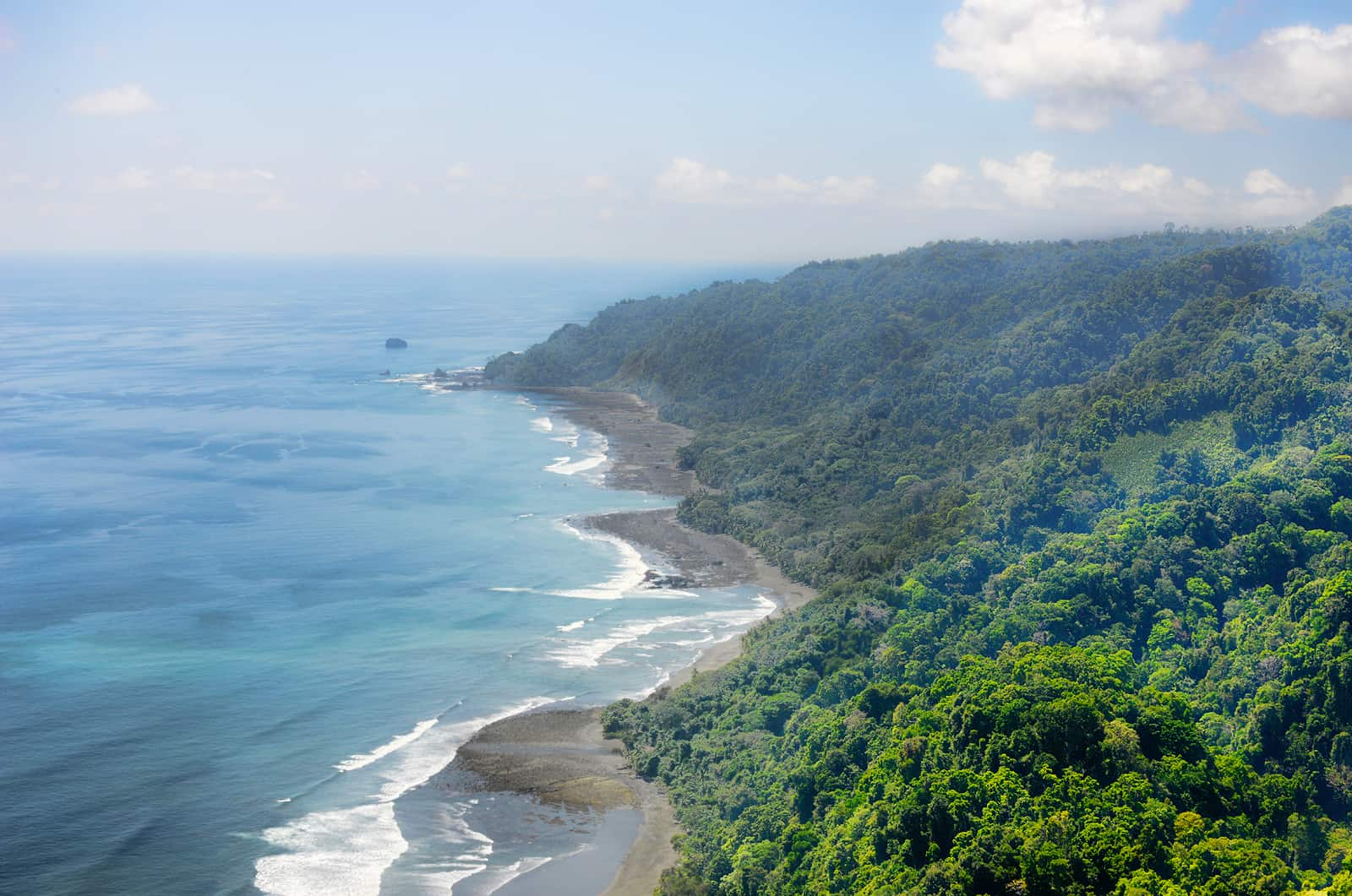 Corcovado National Park from above.