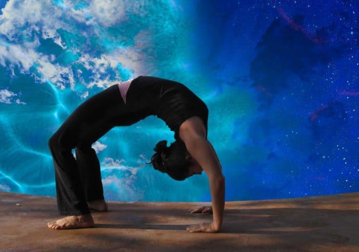 doing yoga on iboga
