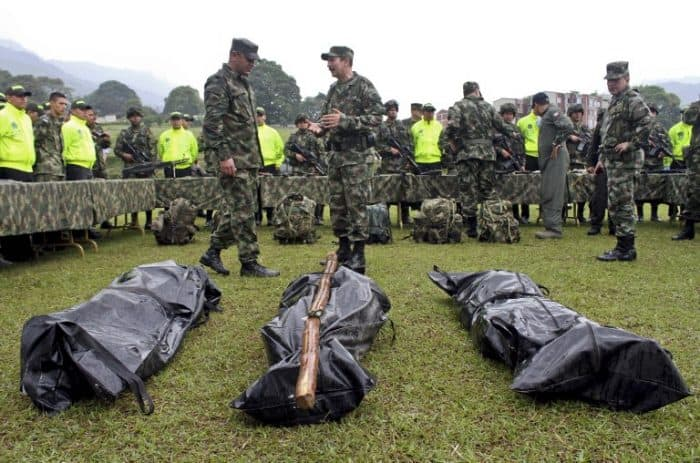 FARC rebels killed; war on drugs; Colombia peace agreement