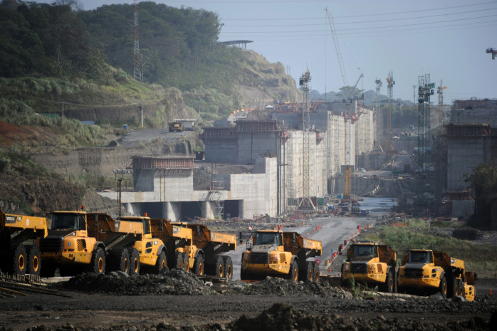 Expansion works at the Panama Canal.