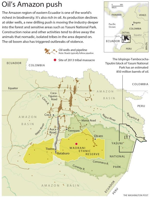 In Ecuador: Oil's Amazon push