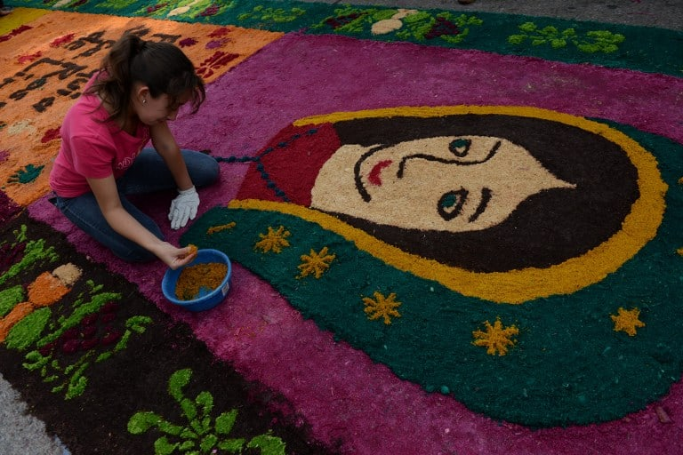 Catholics In Guatemala Set Sawdust Carpet World Record