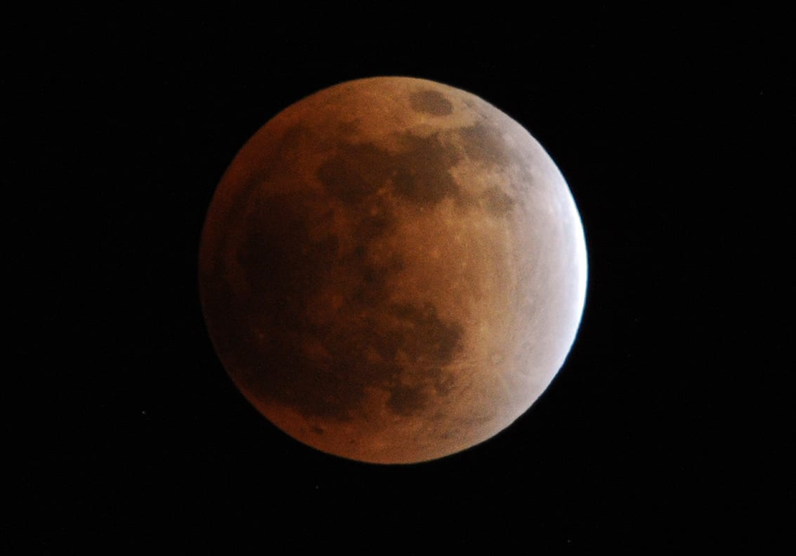 A full moon lunar eclipse.