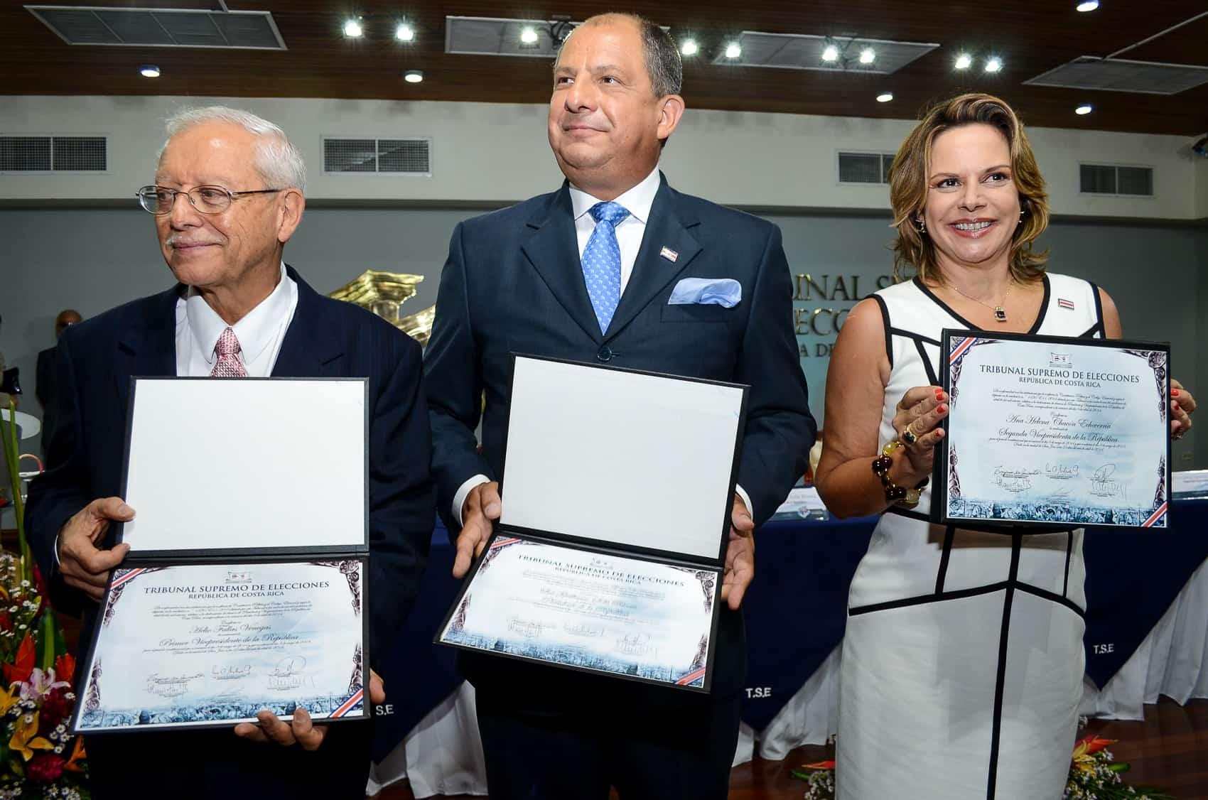 Helio Fallas, Luis Guillermo Solís, Ana Helena Chacón