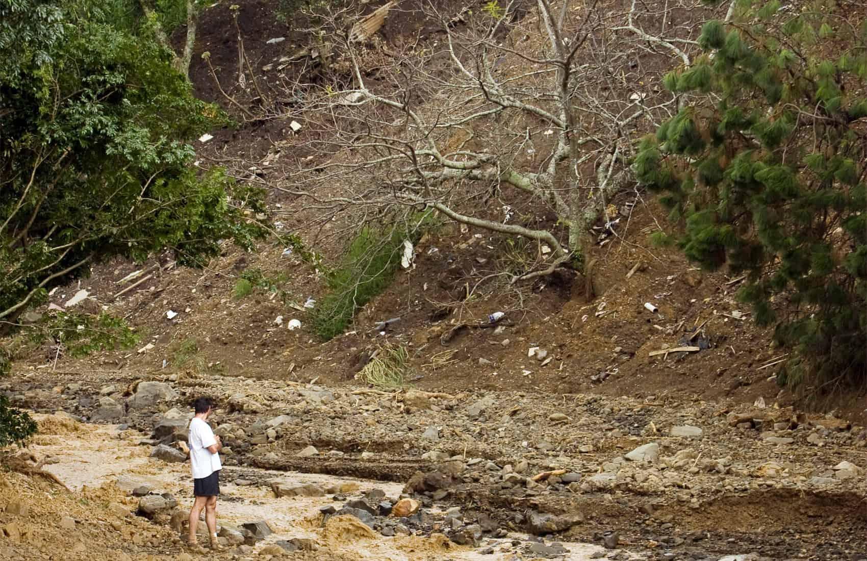 Landslides at Santa Ana
