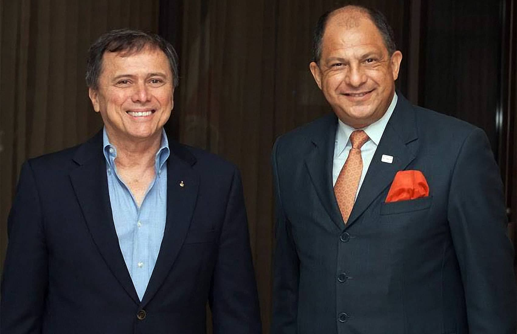 Franklin Chang Díaz and President Luis Guillermo Solís