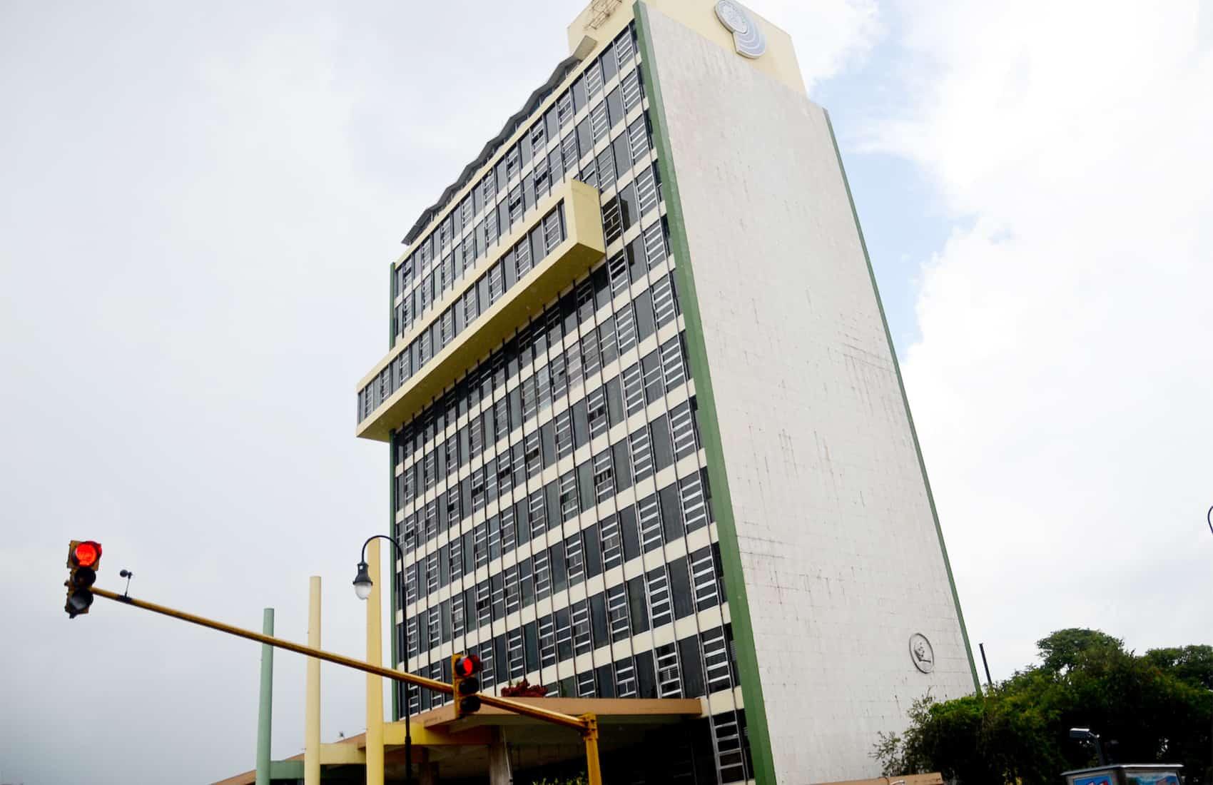Social Security System building in San José