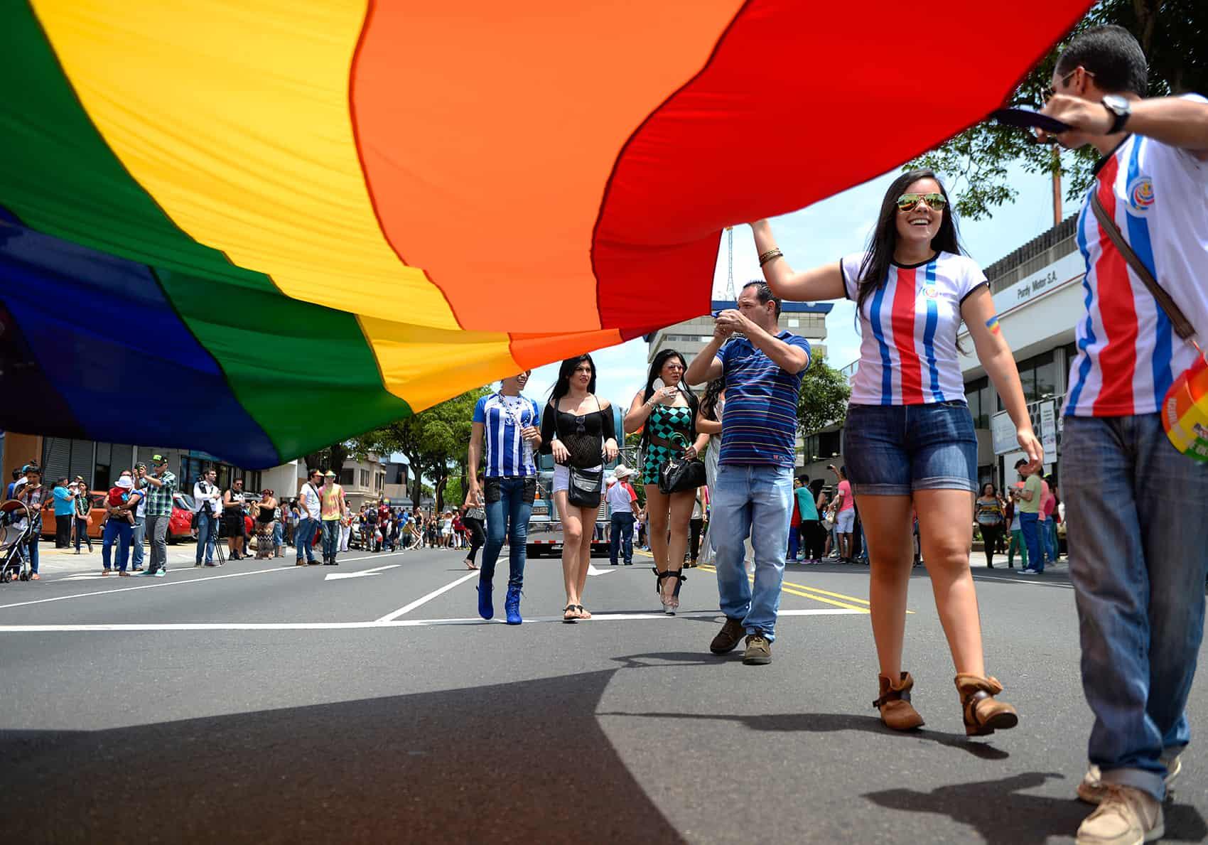 Gay pride parade in San José   Costa Rica gay marriage