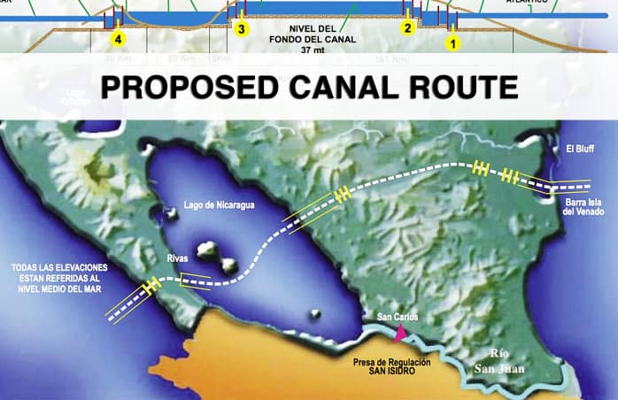 Proposed Canal Route