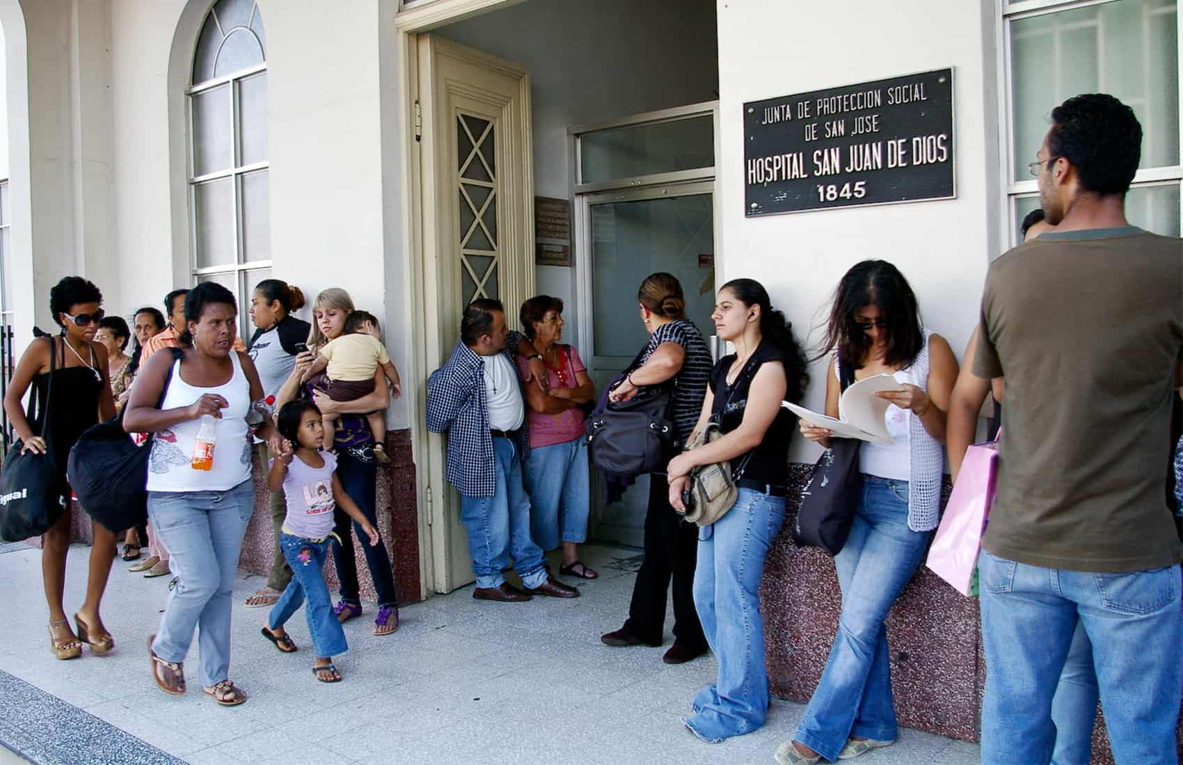 Lines outside public hospitals