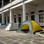 Tents await the students who will spend the night learning about the life and times of Costa Rica's national hero.