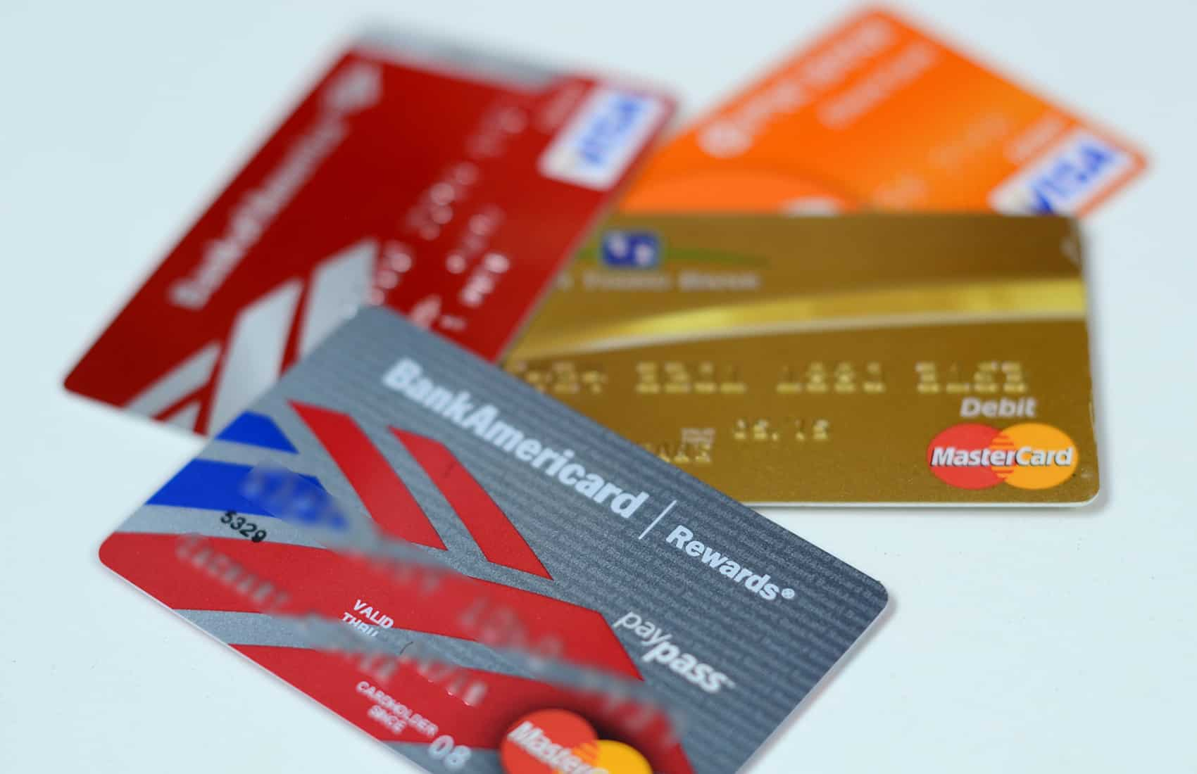 Credit, debit cards