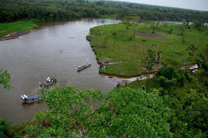 winners and losers: The San Juan River near the disputed Isla Calero wetland.