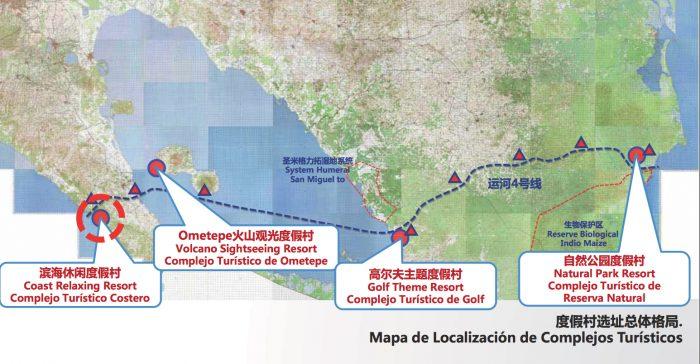 Nicaragua Canal map