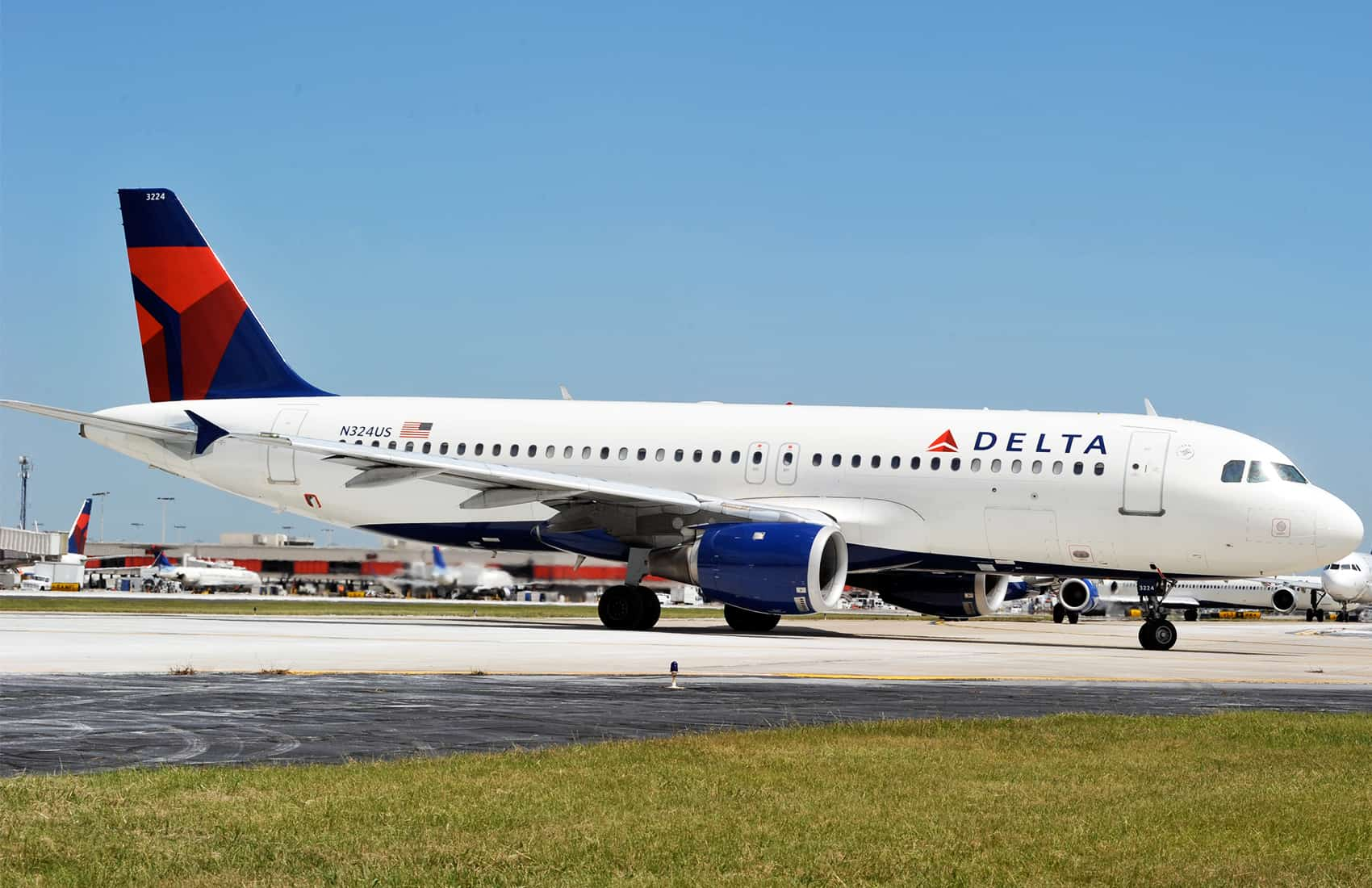 Delta Airlines A320 aircraft