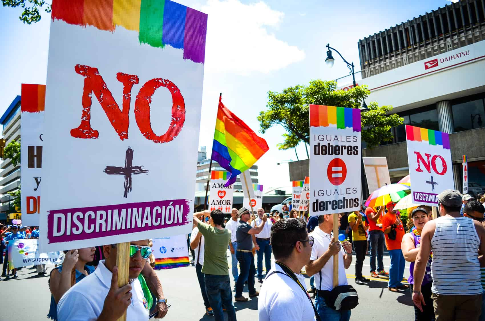 Gay rights demonstrations