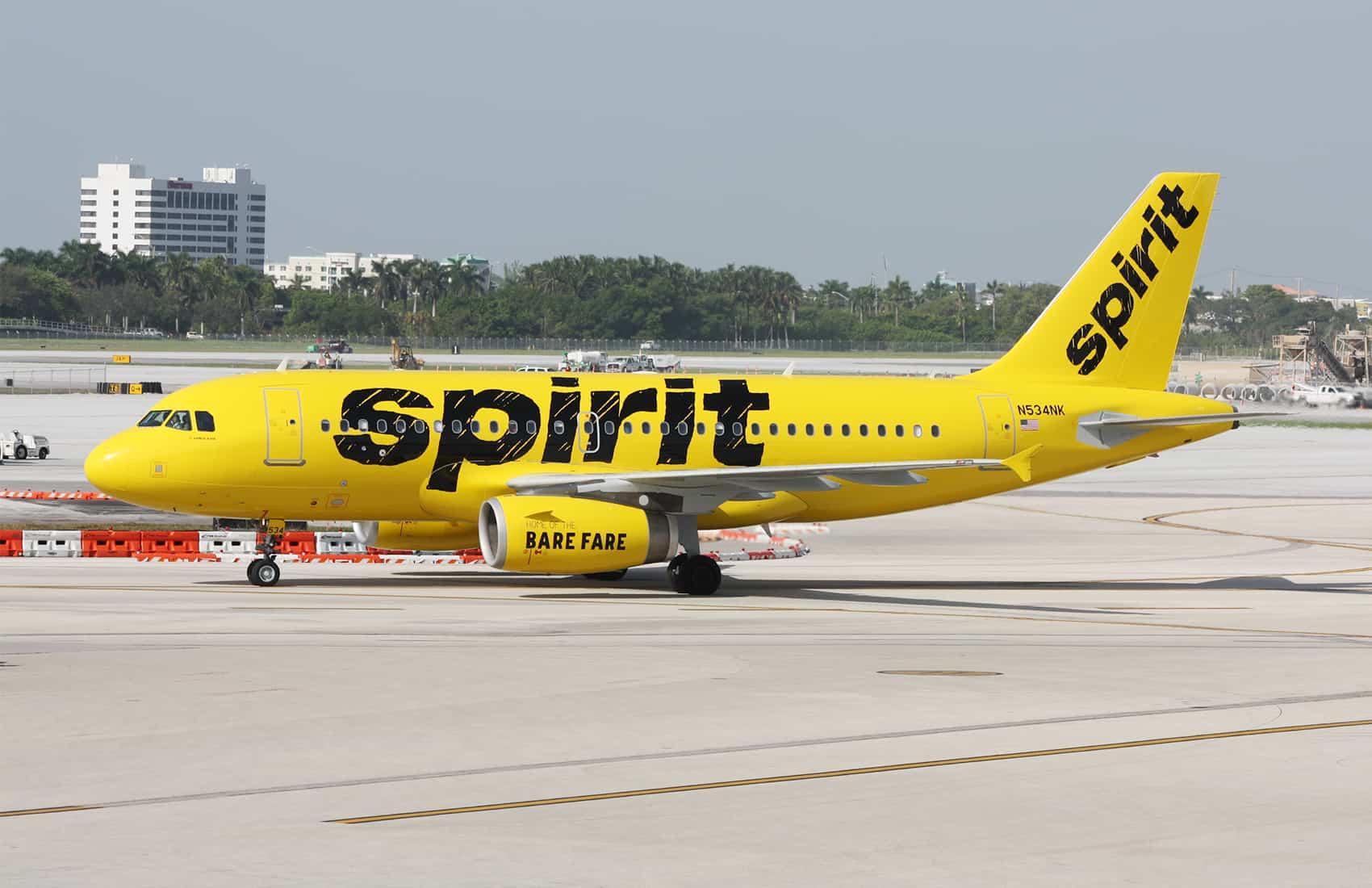 Spirit Airlines A320 aircraft