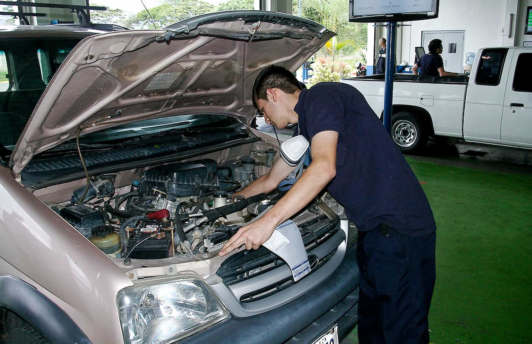 Technical inspection of vehicles