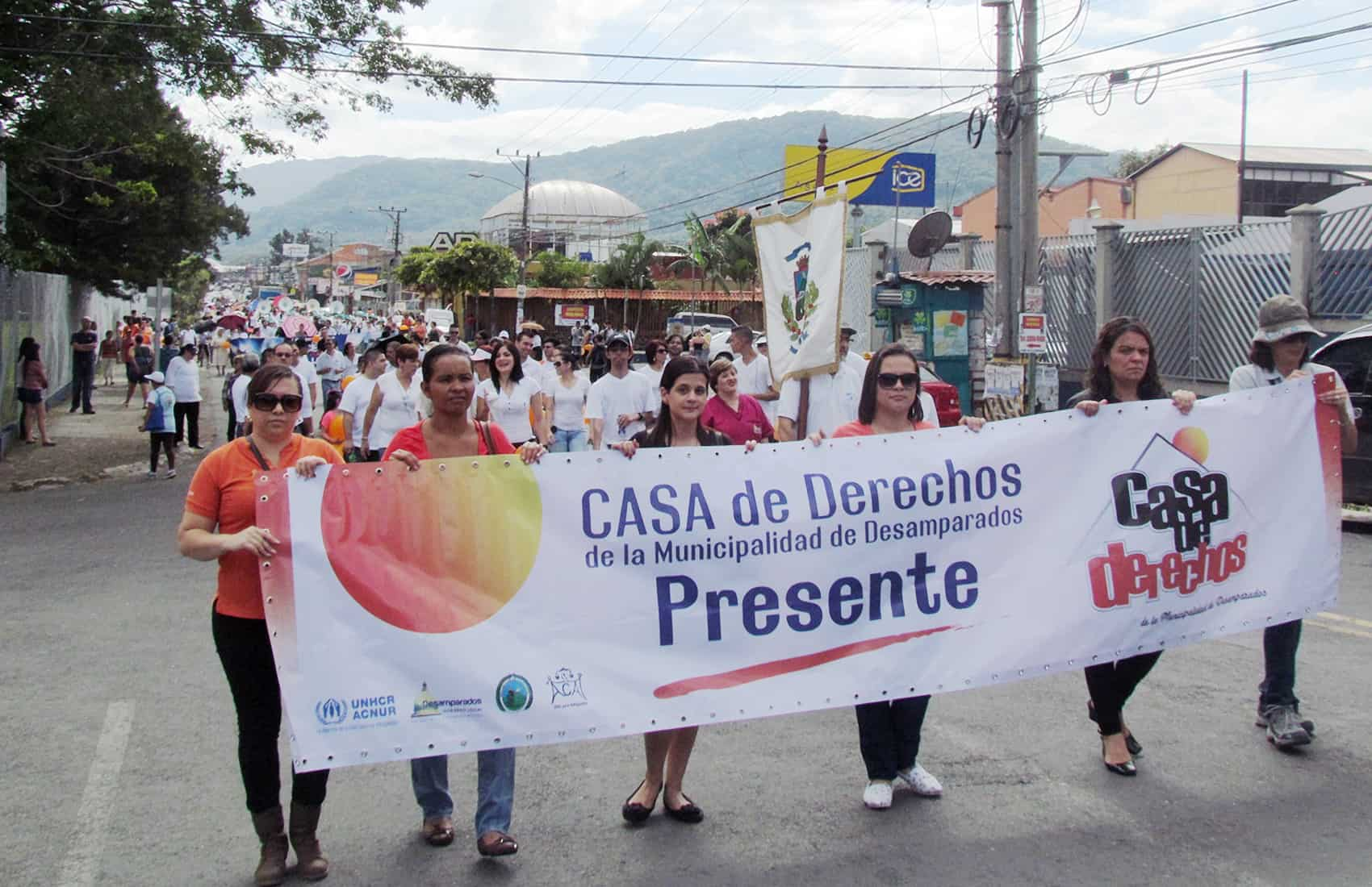 Demonstration against violence in Desamparados