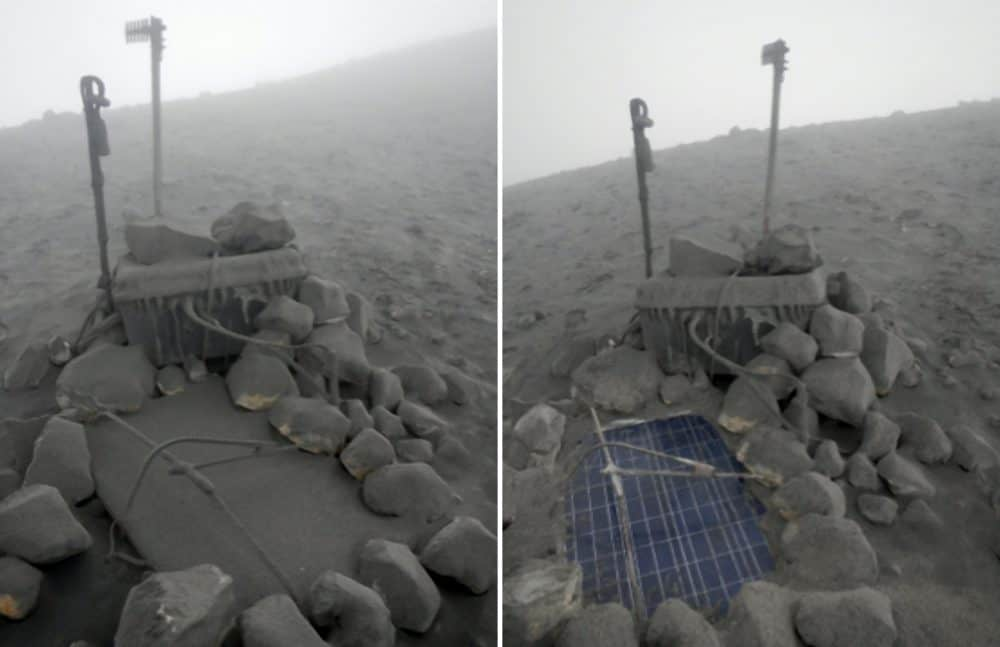 OVSICORI's antennas and solar panels